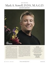 Mark Sowell featured in D Magazine for aesthetic dentistry
